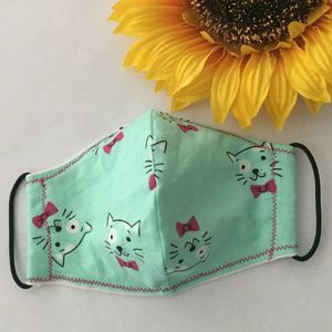Kitty Kids Face Mask, Double Layer, Washable